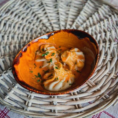 Хинкали с лососем